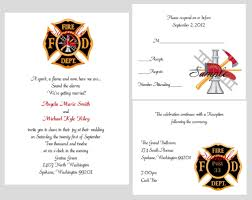 What To Write In A Wedding Invitation Card 100 Personalized Custom Firefighter Bridal Wedding Invitations Set