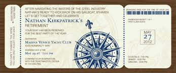 nautical boarding pass invitations by noteworthy collections