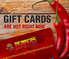 chili gift card gift cards peppers mexican grill and cantina