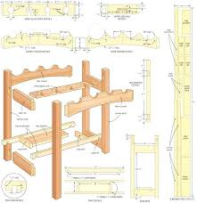Free Woodworking Plans Pdf by Woodworking Wine Rack Plans U2013 Abce Us