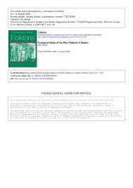 the ecological basis of the bihu festival pdf available