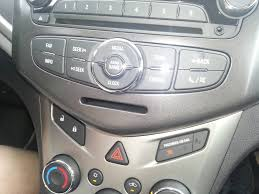slot below radio on chevy 2014 sonic lt manual says nothing
