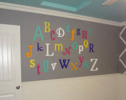 wooden alphabet letters nursery decor wall hanging wooden