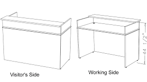 Standing Height Table by Custom Standing Height Reception Desk 5 U0027w
