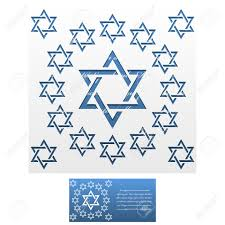 invitation envelope template of jewish star of david for laser