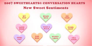 sweet hearts candy best and worst candy heart sayings of all time family