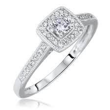 Gold Diamond Wedding Ring Sets by 1 2 Carat T W Round Cut Diamond Matching Trio Wedding Ring Set