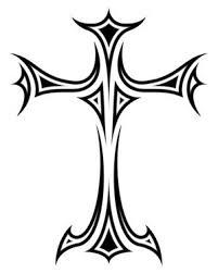 beautiful black tribal and cross design