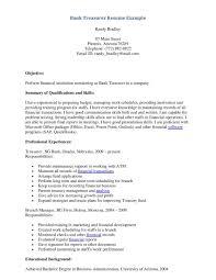 Banking Resume Sample Entry Level Resume Bank Resume Examples