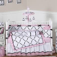 White Crib Set Bedding Lace Satin And Tulle Baby Bedding