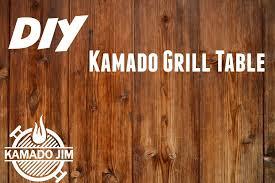 kamado joe grill table plans diy kamado grill table