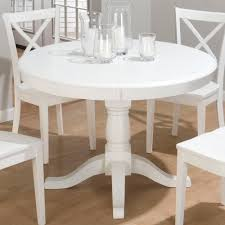 Cozy Design White Round Pedestal Dining Table All Dining Room - Antique white pedestal dining table