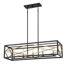 kitchen island light shop quoizel platform 12 in w 5 light black with gold kitchen