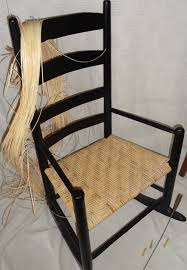 Chair Caning Instructions Antique Rocker Woven In A Porch Weave Pattern Of Wide Binding Cane