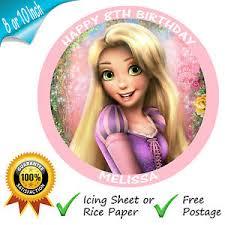 rapunzel cake topper tangled rapunzel disney princess personalised printed cake