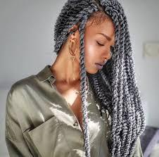 grey twists l black hair braided hairstyles pinterest black