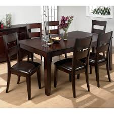 steve silver wilson 7 piece dining table set merlot cherry