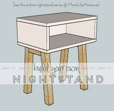Diy Simple End Table by Ana White Simple Modern Nightstand Diy Projects