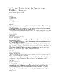 Sample Project Manager Resumes Resume Electrical Project Manager Resume