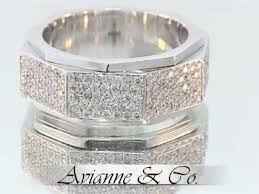 men diamond wedding bands 18k white gold mens diamond wedding band 3 48 ctw