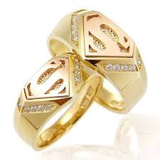 superman wedding ring set 20 inspired wedding rings awesome geeky couples