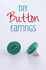 make dangle earrings best 25 button earrings ideas on diy earrings buttons