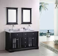 Bathroom Double Vanity Cabinets Large Size Lofty Design White - Black bathroom vanity and sink