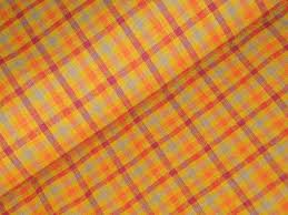Home Decor Material by Cotton Homespun Material Orange Check Material Cotton Material