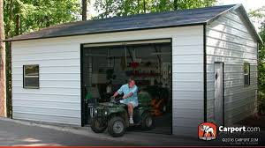 metal building 18 u0027 x 26 u0027 one car garage shop metal buildings online