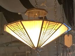 Fredrick Ramond Chandelier by Fredrick Ramond Iridescent Glass Chandelier Ceiling Light Modernism
