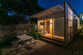 Low Cost Home Building Affordable Polycarbonate Cabin Is A Light Filled Vacation Home In