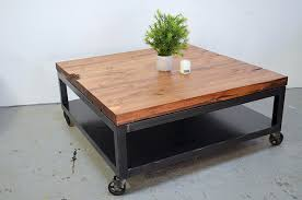 industrial coffee table with wheels coffee table on casters dosgildas com