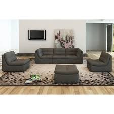 Modular Sofa Pieces by Grey Leather Sofas You U0027ll Love Wayfair