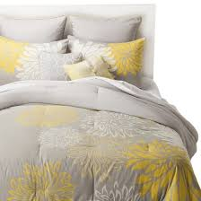 Grey And Yellow Duvet Anya 8 Piece Floral Print Bedding Set Gray Yellow Target