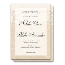 lace and burlap 5x7 wedding invitation and rsvp card