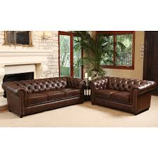 Chesterfield Tufted Leather Sofa Chesterfield Tufted Leather Sofa Abson Living Vista