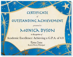 how to design a certificate for student achievements paperdirect