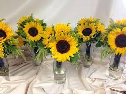 wedding flowers seattle sunflower bridesmaids bouquets designed by rebekah at ballard