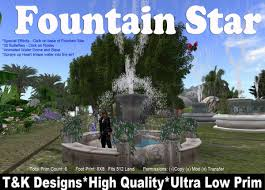 l with water fountain base second life marketplace fountain star special fx 30 buterflies