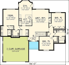 3 bedroom ranch house floor plans 3 bedroom hill country rambler 89815ah architectural designs
