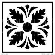 tile stencils tagged foliate stencils modello designs