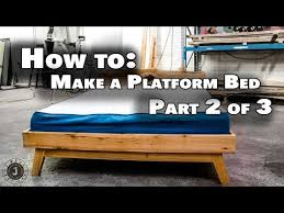 Make Queen Size Platform Bed Frame by How To Make Queen Size Platform Bed Part 2 Of 3 Outer Frame And