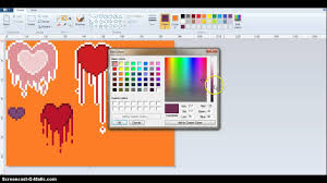 how to edit colors on ms paint youtube