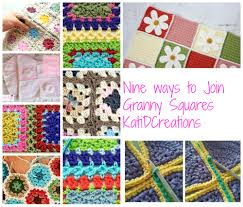 how to join crochet squares completely flat zipper method joining of granny squares katidcreations