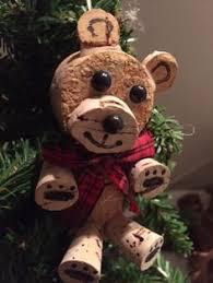 wine cork craft reindeer ornament