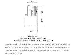 shower stall 36 x36 per adaag fig 35 a and ansi fig 608 2 1