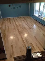 customer instalationof unfinished ambrosia maple flooring yelp
