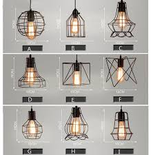 Shade Pendant Light Mixed Vintage Edison Metal Wire Cage Hanging L Shade Pendant