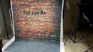 brick wall backdrop mohoo retro vinyl brick wall photography photo backdrop