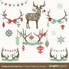 gold christmas clipart christmas deer gold laurels snowflakes